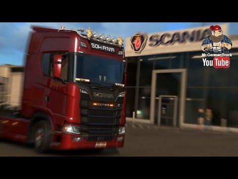 [ETS2 v1.30] New Scania HiBars, Super Logo, Light Box, Led Marker