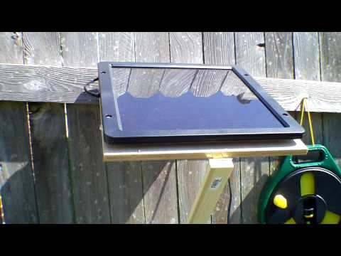 Completed solar powered water pump