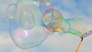 Giant Bubbles Popping In Slow Motion - The Slow Mo Guys