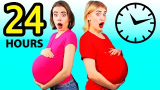 PREGNANT FOR 24 HOURS CHALLENGE | Prank Wars by ideas 4 Fun CHALLENGE
