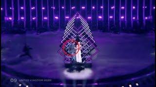 Stage invasion during United Kingdom | Eurovision 2018
