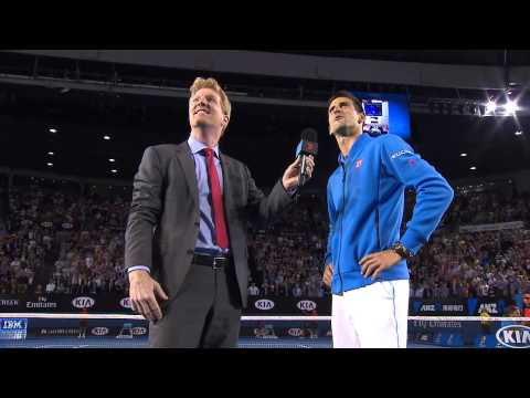 Novak Djokovic talks baby Stefan - Australian Open 2015