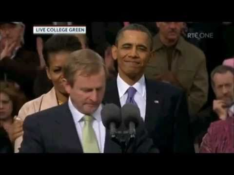 Enda Kenny and Barack Obama speeches In College Green, Dublin, Ireland on May 23rd 2011  (Part1/3)