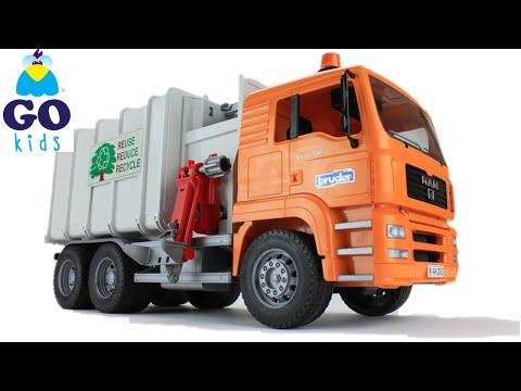 Wheels On The Bus - Toy Garbage Truck - Nursery Rhyme Trucks - GoKids