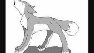 crappy animated wolf howl