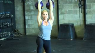 Sara-Clare Lajeunesse 40KG Double Turkish Get Up-Kettlebells