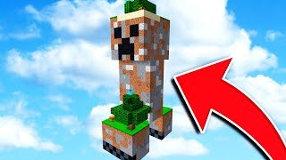 SURVIVING ON A CREEPER IN MINECRAFT!