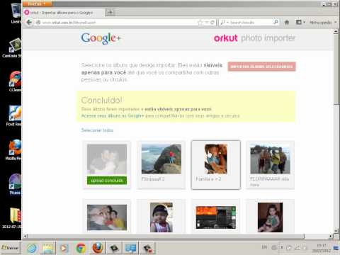 Como copiar albums do orkut para o pc