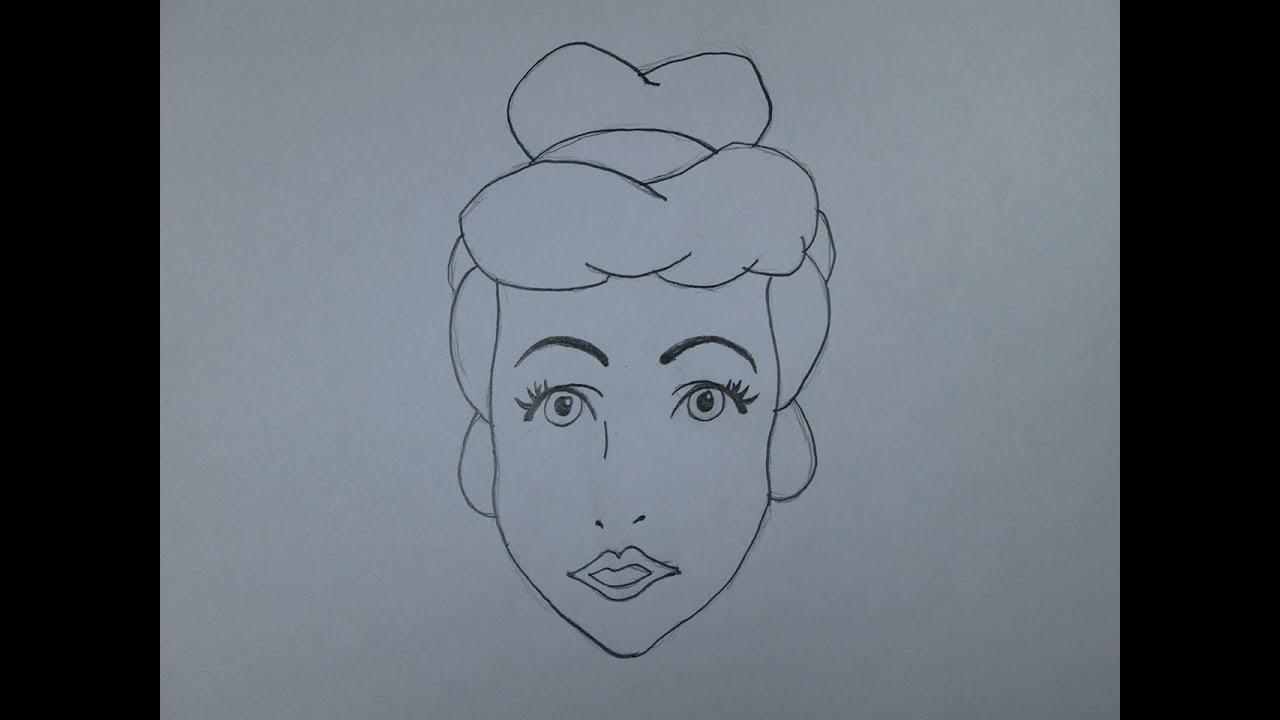 C mo dibujar cenicienta youtube for Sillas para dibujar facil