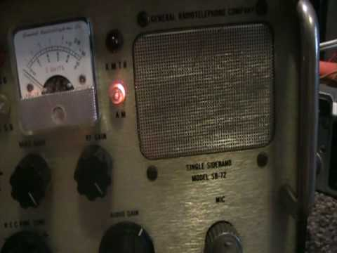 General SB-72 rare collectable tube base cb radio