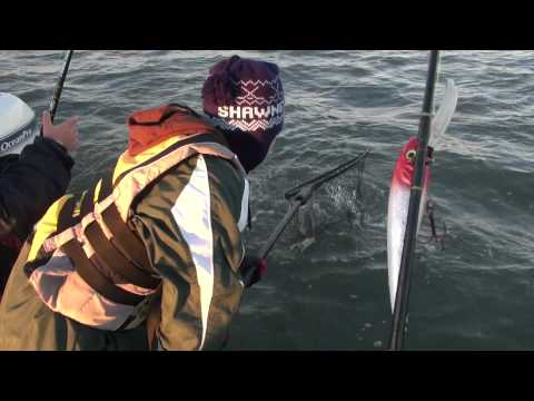 Boys land Striper off Beach Haven NJ