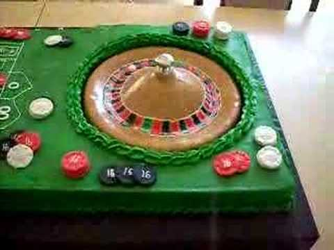 Roulette table cake youtube for Table tv a roulettes