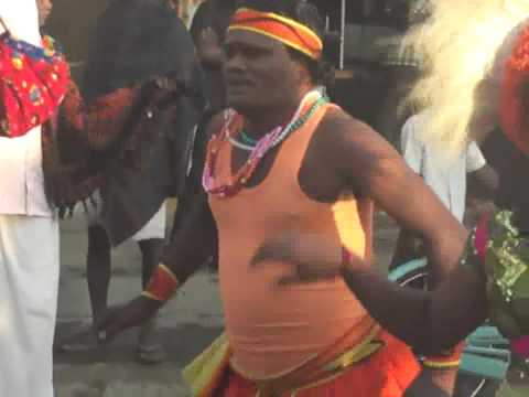 Colourful village street performance of Tamil Nadu