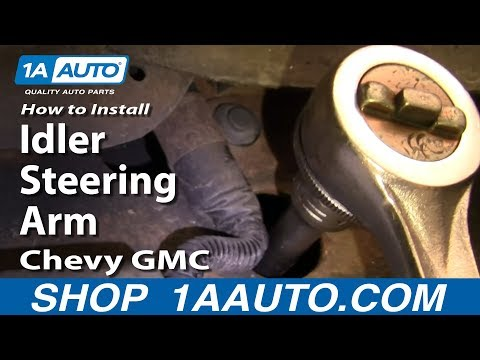 How To Install Replace Idler Steering Arm Chevy GMC Truck Tahoe Yukon Suburban 8