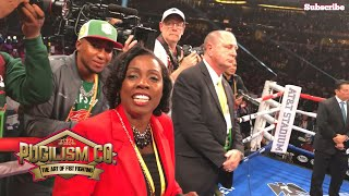 Mama Spence, AB, Tank and Floyd Mayweather Watch The Decision Of Errol Spence Jr | Pugilism Company