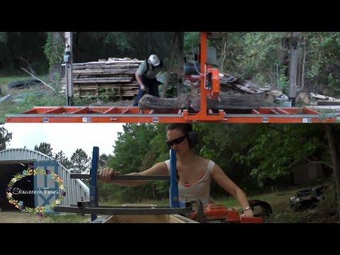 Sawmill Speed Test   Bandsaw vs Chainsaw Mill Comparison   Wood-Mizer FTW