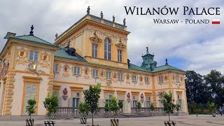 WILANÓW PALACE │ WARSAW - Full walking tour: outside and inside the palace. HD.