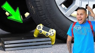 Crushing Boyfriend's PS4 By Car!
