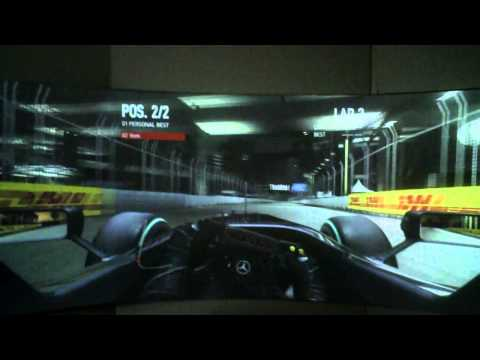 Warpalizer Wide Screen Gaming with Codemasters' F1 2010 on D-Box 3 with light