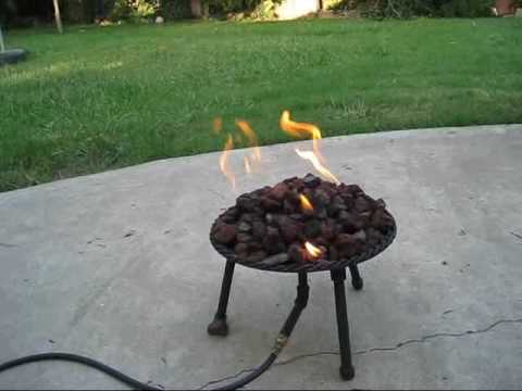 Propane Campfire Fire Pit Stove Homemade How To Save