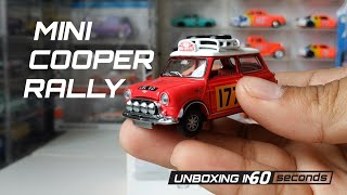 UNBOXING in 60 - Diecast Tiny Model Hongkong Mini Cooper Rally