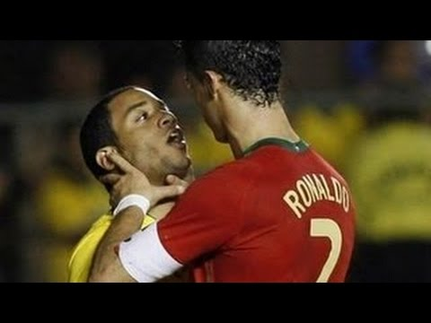 Football Best Fights & Angry Moments - (C.Ronaldo, Messi, Neymar, Pepe, Diego Costa, Ibra & More )
