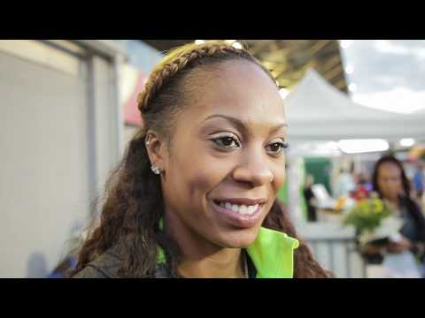 Sanya Richards-Ross - interview after winning 400 at Ostrava Golden Spike 2012
