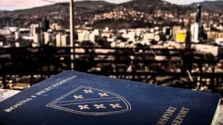 Nedžad Esadović - Zastava Bosanska (modra boja na bijelome platnu)