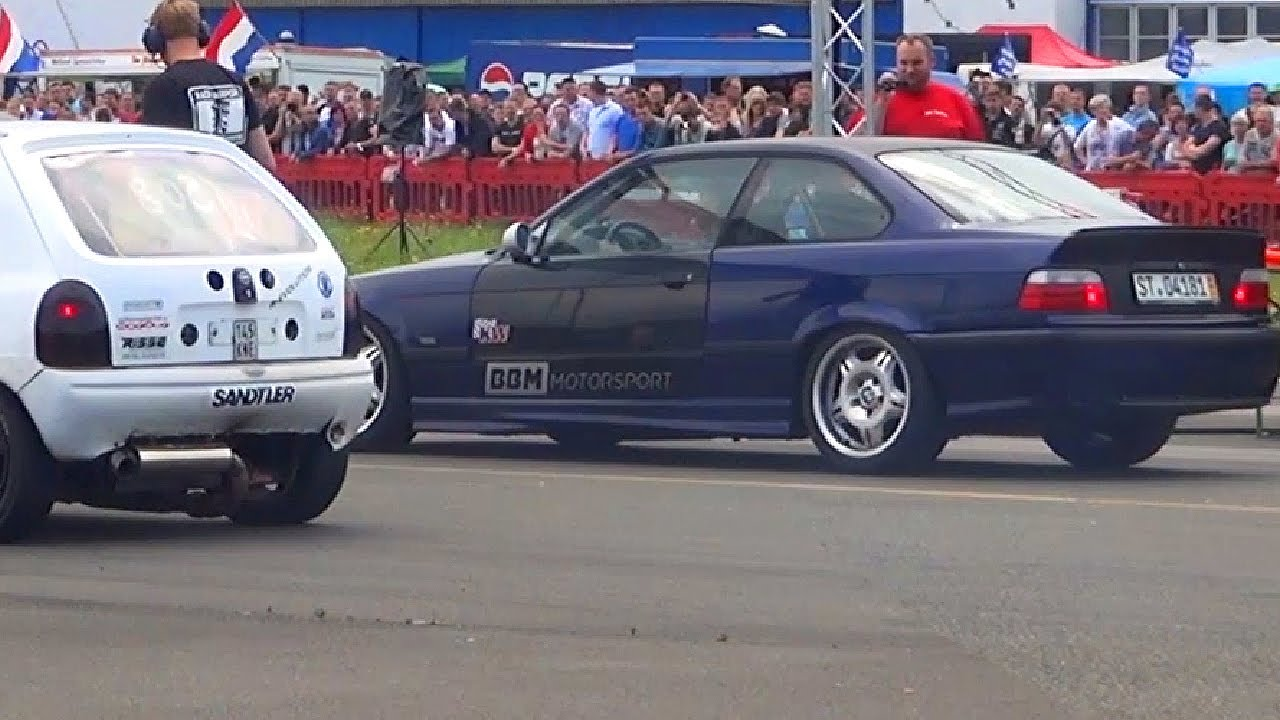 bmw m3 e36 vs opel corsa b wins 1 4 mile drag race. Black Bedroom Furniture Sets. Home Design Ideas
