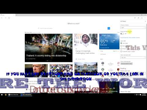 How to Find Microsoft Edge Favorite websites(Bookmarks)- Windows 10 Tutorial & Tips Video 3