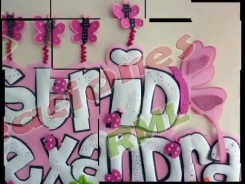Como hacer letreros de cumpleaños en foami - Imagui
