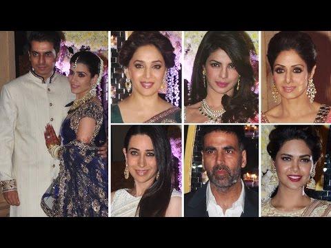 Priyanka Chopra, Madhuri Dixit, Vidya Balan at Manish Malhotra's niece WEDDING RECEPTION