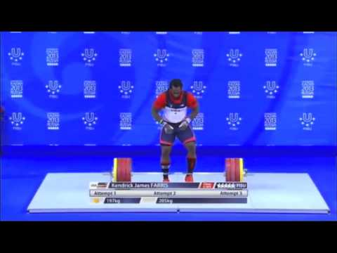 Kendrick Farris' Clean and Jerks at the 2013 World University Games Image 1