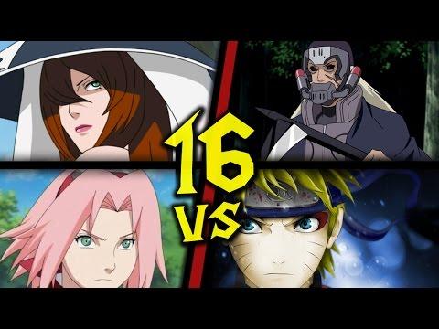 Warcraft III: TFT - Naruto Battle Royal - 16 - Sakura, Mizukage vs Hanzo,Naruto