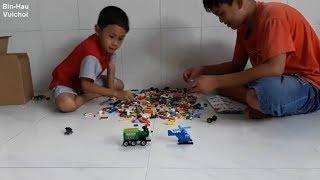 Lắp ráp máy bay- khủng long xe lửa- đồ chơi lắp ráp lego