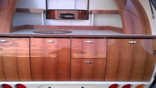 Gidget Retro Teardrop Camper…natural timber kitchens