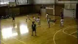 中学ハンドボール2007尾北カップ男子準決勝前半3
