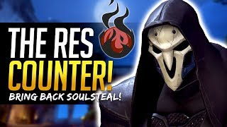 Overwatch - REAPER SOUL-ORB STEAL! Best counter for Mercy Res