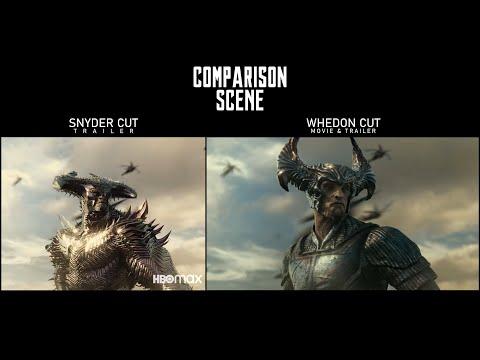Comparison Scene: Snyder Cut (Official Trailer) - Whedon Cut (Official Movie & Trailer)