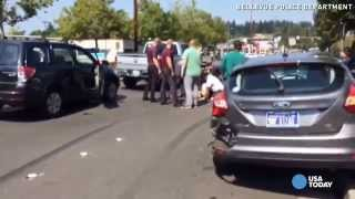 Bystanders tackle suspected DUI driver who hit 7 cars