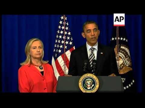 Obama says Clinton to travel to Myanmar, meets Singh, Aquino, Razak