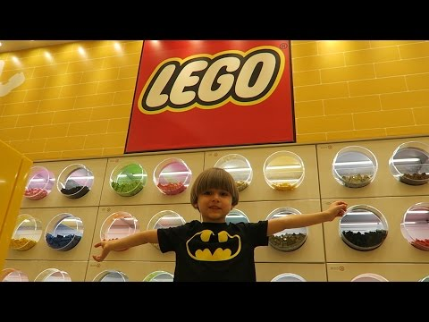 Great Lego Store in a Shopping Mall