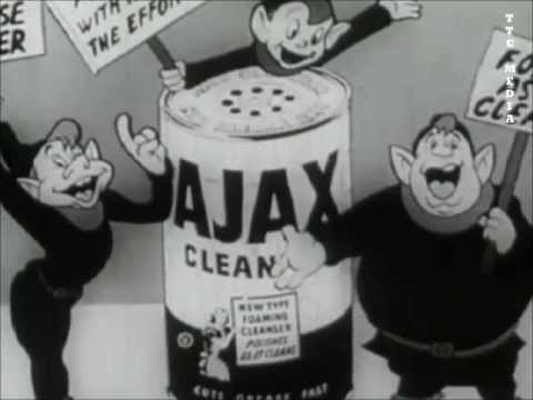 Ajax Cleaner Commercial - 1950's