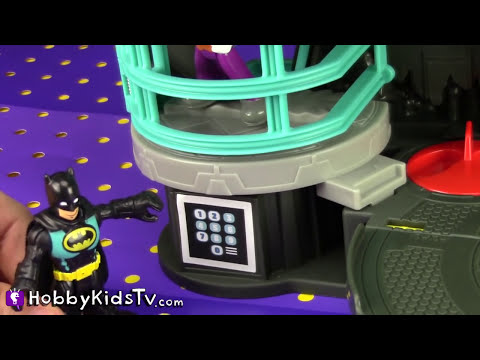 Imaginext BATCAVE Adventure! BATMAN, ROBIN, JOKER [Hero] [Villain] [DC Comics]