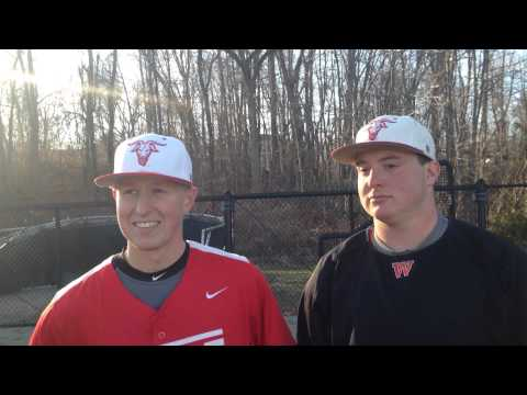 WPI Baseball Post-Game Interview - MIke Vaitkunas and DJ Ouellette