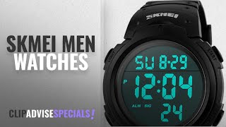 10 Best Selling SKMEI Men Watches [2018 ]: Men's Digital Sports Watch LED Screen Large Face Military