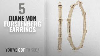 """10 Best Diane Von Furstenberg Design Earrings: Diane von Furstenberg """"Summer Disco"""" Circle Snake"""