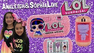LOL SURPRISE DOLLS | UNDER WRAPS | EYE SPY SERIES OPENING | ANALEIGH AND SOPHIA LIVE