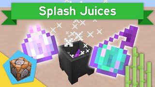 SPLASH JUICES in Vanilla Minecraft 1.11 | Splash Juices Command Block Creation