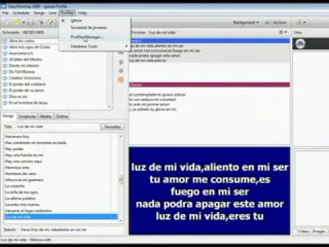 tutorial de como agregar los cantos de easyworship 2007 ah 2009